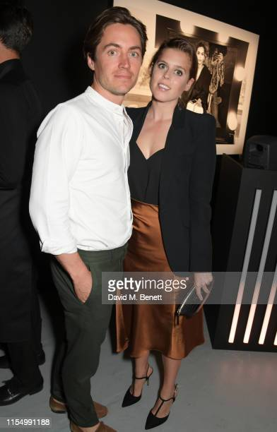 Edoardo Mapelli Mozzi and Princess Beatrice of York attend the Lenny Kravitz & Dom Perignon 'Assemblage' exhibition, the launch Of Lenny Kravitz' UK...