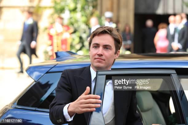 Edoardo Mapelli Mozzi, boyfriend of Princess Beatrice of York, arriving at York Minster for the wedding of singer Ellie Goulding to Caspar Jopling.