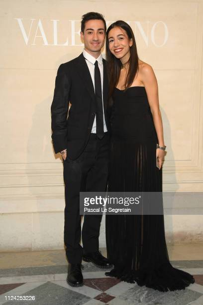 Edoardo Marcoccia and Benedetta Piccioli attend the Valentino Haute Couture Spring Summer 2019 show as part of Paris Fashion Week on January 23 2019...