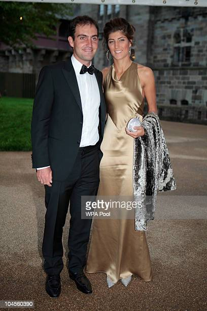 Edoardo Molinari and partner Anna Roscio attend the 2010 Ryder Cup Dinner at Cardiff Castle on September 29 2010 in Cardiff Wales