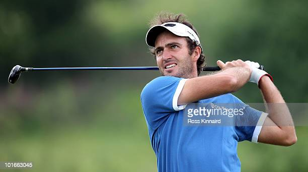 Edoardo Molinari of Italy during the final round of the Celtic Manor Wales Open on the 2010 Course at the Celtic Manor Resort on June 6 2010 in...