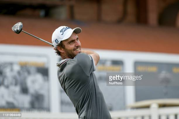 Edoardo Molinari of Italy in action on Day Two of the Maybank Championship at at Saujana Golf and Country Club on March 22 2019 in Kuala Lumpur...
