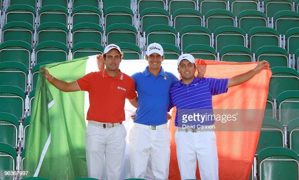 Edoardo Molinari of Italy Matteo Manassero of Italy and Francesco Molinari of Italy make a remarkbly talented Italian threesome who are playing in...