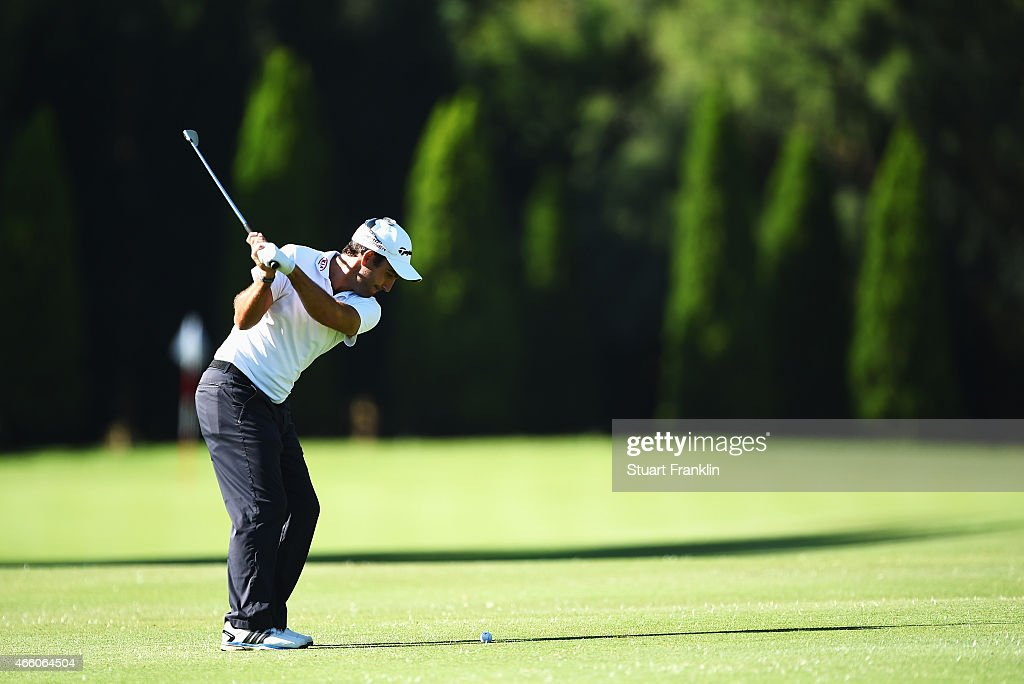 Edoardo Molinari of Italy plays a shot during the second round of the Tshwane Open at Pretoria Country Club on March 13, 2015 in Pretoria, South Africa.