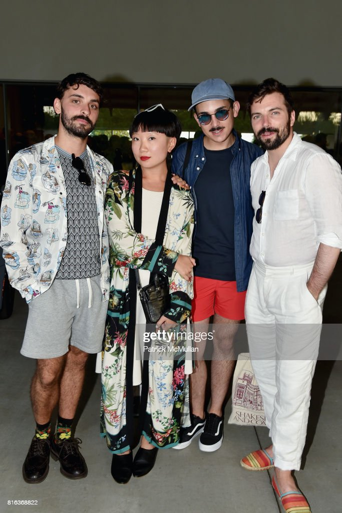 Edoardo Monti, Jiajia Fei, Mark Rosen and Jean Francois Goyette attend the Midsummer Party 2017 at Parrish Art Museum on July 15, 2017 in Water Mill, New York.