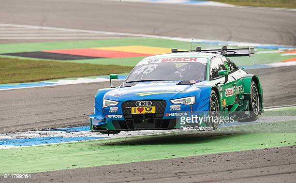 Edoardo Mortara of Italy and Audi Sport Team Abt lifts off during the warm up prior to the first race of the DTM 2016 German Touring Car Championship...