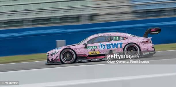 Edoardo Mortara of MercedesAMG DTM Team HWA during the DTM free practice session 3 at the Hockenheimring on Day 2 of the DTM German Touring Car...