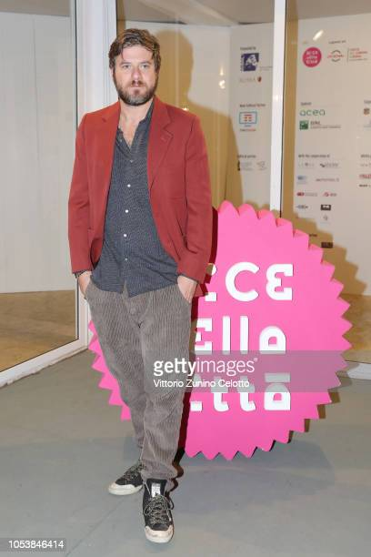 Edoardo Pesce attends 'Dogsitter' photocall as part of 'Alice Nella Citta' during the 13th Rome Film Fest at Auditorium Parco Della Musica on October...
