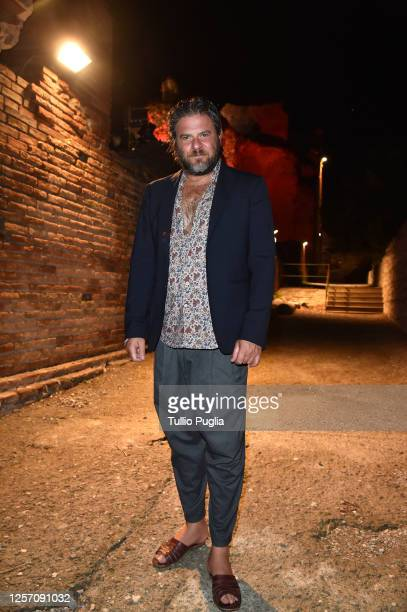 Edoardo Pesce attends the red carpet of the closing night of the Taormina Film Festival on July 19 2020 in Taormina Italy