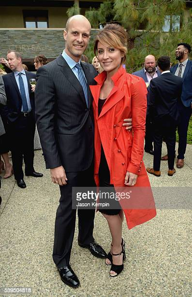 Edoardo Ponti and actress Sasha Alexander attend the 15th Annual Chrysalis Butterfly Ball at a Private Residence on June 11 2016 in Brentwood...
