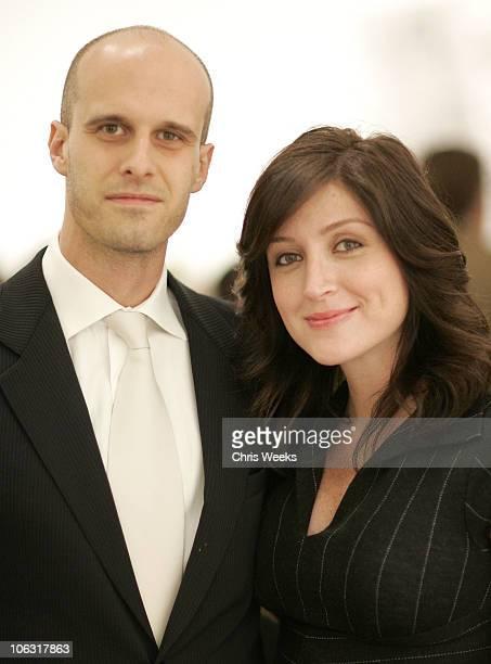 Edoardo Ponti and Sasha Alexander during Christopher Wool Opening Reception at Gagosian Gallery at Gagosian Gallery in Beverly Hills California...