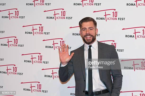 "Edoardo Purgatori during the red carpet at the fourth day of the ""Roma Fiction Fest 2016""."
