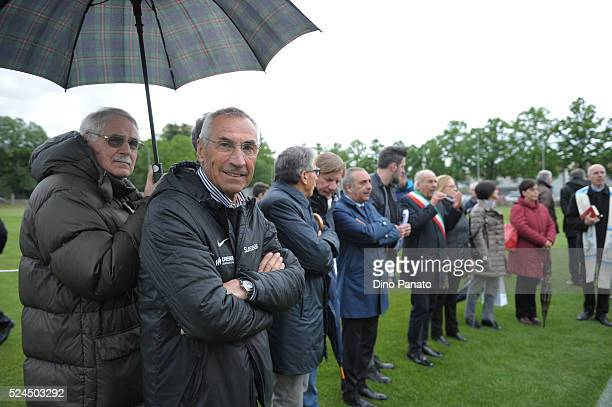 Edoardo Reja head coach of Atalanta Calcio looks on before the U15 International Tournament match between Italy and Russia at Stadio Enzo Bearzot on...