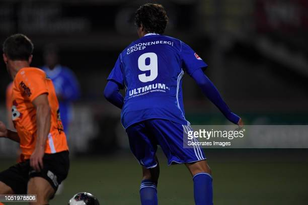 Edoardo Soleri of Almere City Robin Schouten of FC Volendam during the Dutch Keuken Kampioen Divisie match between FC Volendam v Almere City at the...