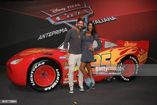 Edoardo Stoppa and Juliana Moreira attend Cars 3 photocall in Milan on September 11 2017 in Milan Italy