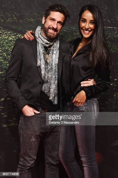 Edoardo Stoppa and Juliana Moreira attend the 'Il Vegetale' photocall on January 16 2018 in Milan Italy