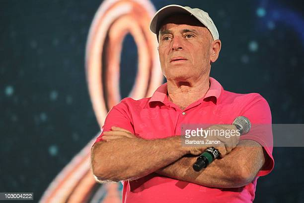 Edoardo Vianello performs on stage during the soundcheck during Venice Music Award on July 20 2010 in Venice Italy