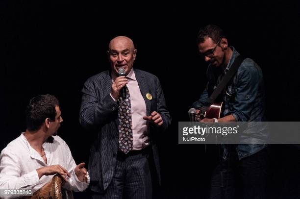 Edoardo Vianello who performs with musicians during The Deputy Mayor in charge of Cultural Growth Luca Bergamo and the President of the Cultural...