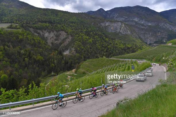 Edoardo Zardini of Italy and Team Neri Sottoli - Selle Italia - Ktm / Antonio Nibali of Italy and Team Bahrain Merida / Elie Gesbert of France and...