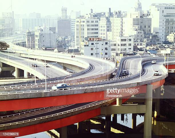 edobashi high way junction in showa - showa period stock pictures, royalty-free photos & images