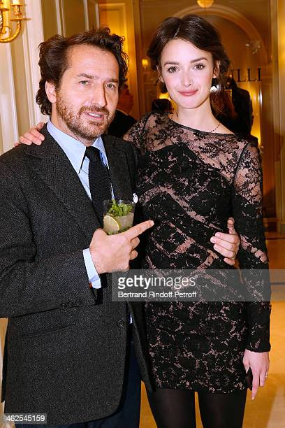 Edouard Baer and Charlotte Le Bon at the Chaumet's Cocktail Party for Cesar's Revelations 2014 at Musee Chaumet followed by a dinner at Hotel Meurice...