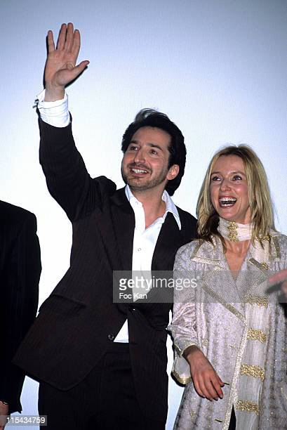 Edouard Baer and Lea Drucker during 'Les Brigades du Tigre' Paris Premiere at Cinema UGC Bercy in Paris France