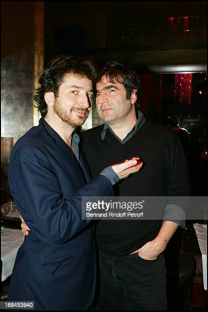 Edouard Baer and Romain Goupil at 100th Episode Of 'Campus' Of Guillaume Durant At Le Cafe De L'Homme Restaurant At The Trocadero