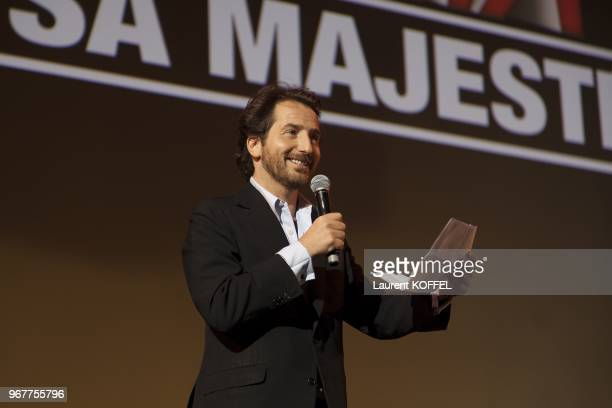 "Edouard Baer attends at ""Asterix et Obelix: au service de sa majeste"" film premiere at ""Le Grand Rex"" on September 30, 2012 in Paris, France."