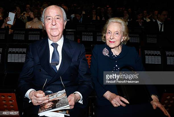 Edouard Baladur and his wife MarieJosee attend the AROP Charity Gala Held at Opera Bastille on May 21 2014 in Paris France