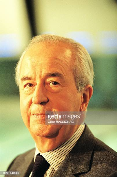 Edouard Balladur Former French Prime Minister On May 4Th 2000 In Paris France