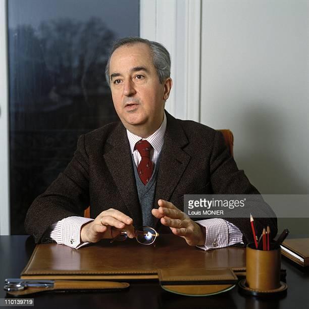 Edouard Balladur in France in January 1989