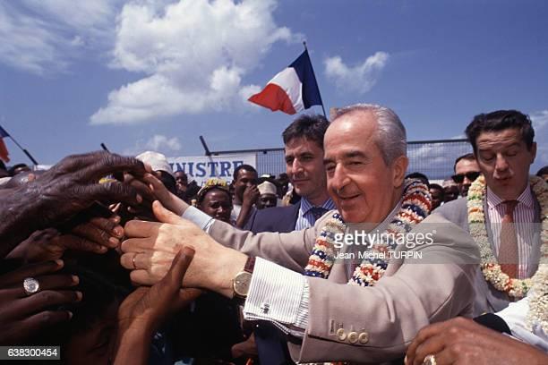 Edouard Balladur à Mamoudzou à Mayotte le 24 novembre 1994