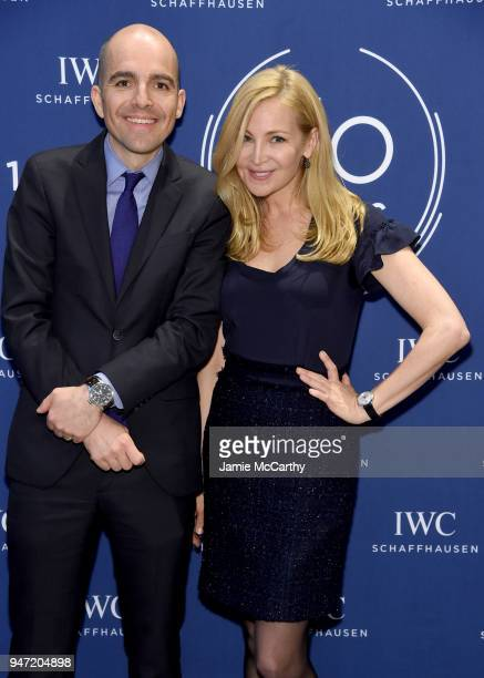 Edouard dArbaumont and Jennifer Westfeldt attend the IWC Tribeca Film Festival Filmmaker Award Celebration on April 16 2018 in New York City