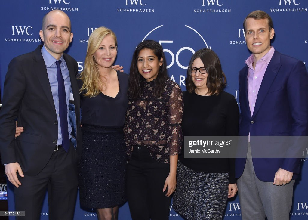 Edouard dArbaumont, Jennifer Westfeldt, Sonejuhi Sinha, Amy Hobby, and David Earls attend the IWC Tribeca Film Festival Filmmaker Award Celebration on April 16, 2018 in New York City.