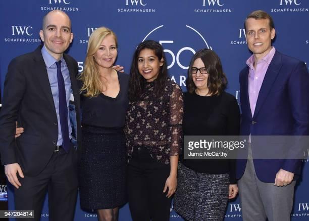 Edouard dArbaumont Jennifer Westfeldt Sonejuhi Sinha Amy Hobby and David Earls attend the IWC Tribeca Film Festival Filmmaker Award Celebration on...