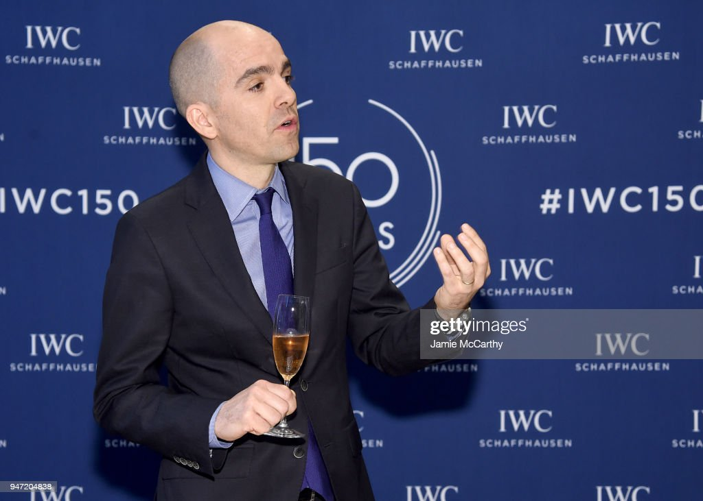Edouard dArbaumont speaks at the IWC Tribeca Film Festival Filmmaker Award Celebration on April 16, 2018 in New York City.
