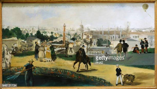 Edouard Manet French painter View of the 1867 Exposition Universelle 1867 National Gallery Oslo Norway