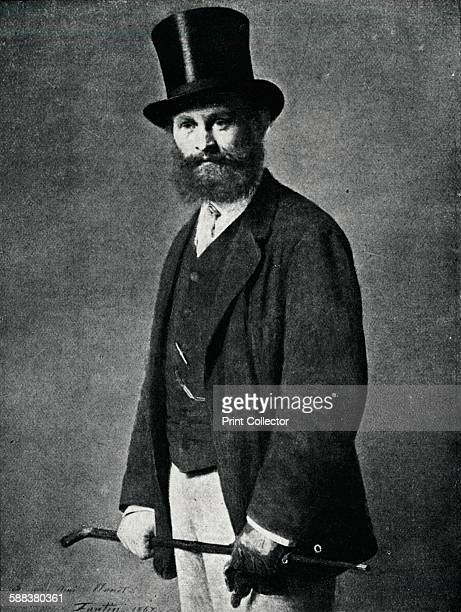 Edouard Manet From the portrait by FantinLatour' 1901 From The Studio Volume 21