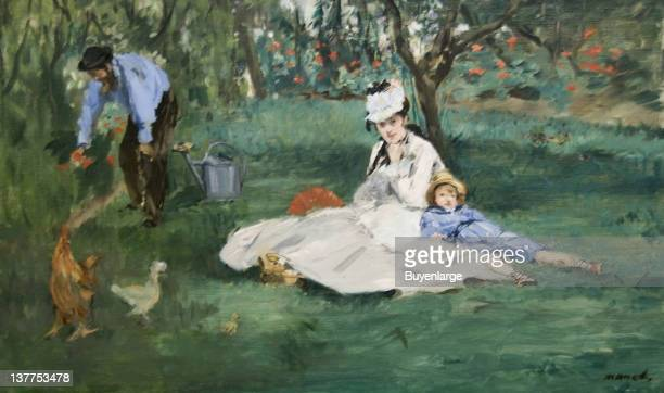 Edouard Manet's The Monet Family in Their Garden at Argenteuil 1874