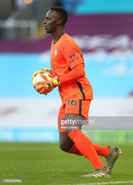 Edouard Mendy of Chelsea during the Premier League match between Burnley and Chelsea at Turf Moor on October 31 2020 in Burnley England Sporting...