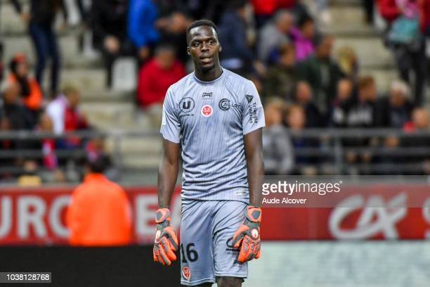 Edouard Mendy of Reims during the Ligue 1 match between Reims and Dijon at Stade Auguste Delaune on September 22 2018 in Reims France