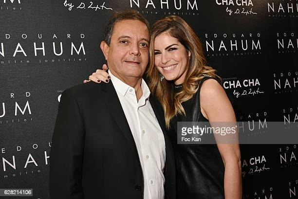 Edouard Nahum and TV presenter Amelie Bitoun attend Black Whyte Party by Edouard Nahum to celebrate his new Jewellery store in Aspen Colorado At VIP...