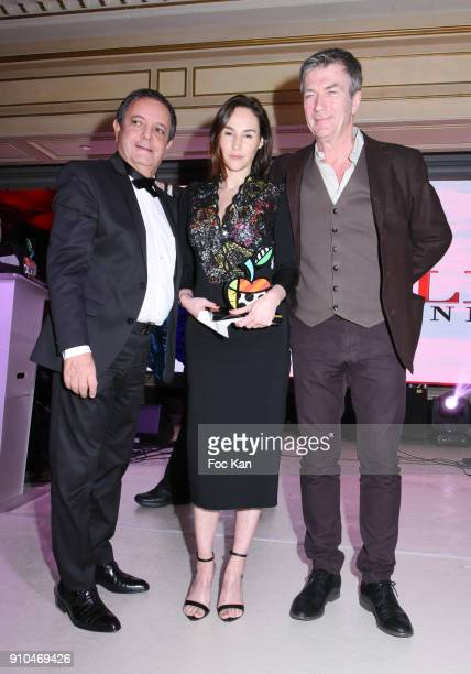 Edouard Nahum Best awarded 2018 actress Vanessa Demouy and Philippe Caroit attend the 41st 'The Best' Award Ceremony in Paris Paris Fashion Week...