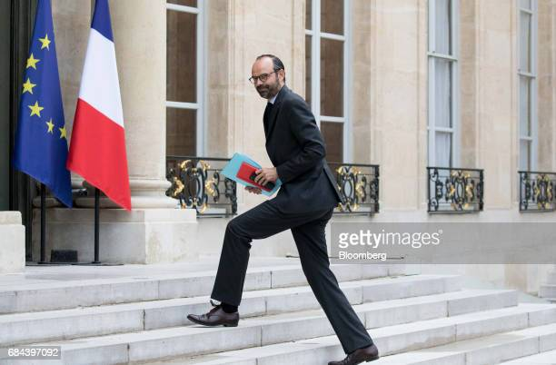 Edouard Philippe France's prime minister arrives for a cabinet meeting at the Elysee Palace in Paris France on Thursday May 18 2017 President...