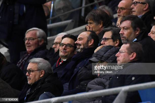 Edouard PHILIPPE prime minister during the Ligue 2 match between Le Havre Athletic Club and RC Lens on January 31 2020 in Le Havre France