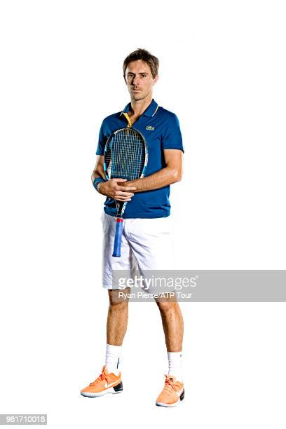 Edouard RogerVasselin of France poses for portraits during the Australian Open at Melbourne Park on January 14 2018 in Melbourne Australia