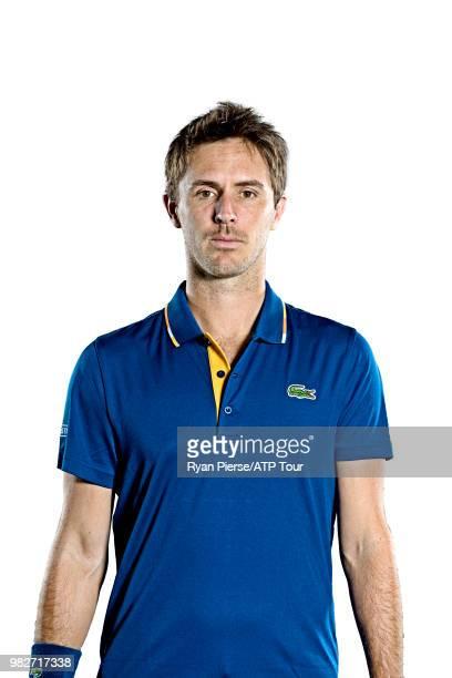 Edouard RogerVasselin of france poses for portraits during the Australian Open at Melbourne Park on January 14 2018 in Melbourne Australia