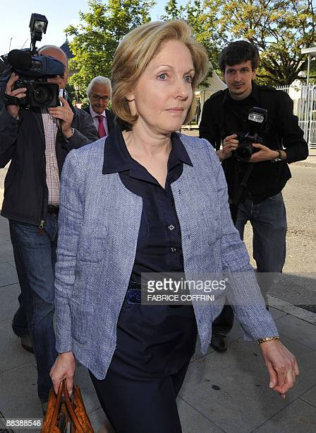 Edouard Stern's former separated wife Beatrice arrives on June 10 2009 for the opening day of Cecile Brossard's trial in Geneva Cecile Brossard has...