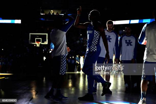 Edrice Adebayo of the Kentucky Wildcats is introduced before the game against the North Carolina Tar Heels during the 2017 NCAA Men's Basketball...