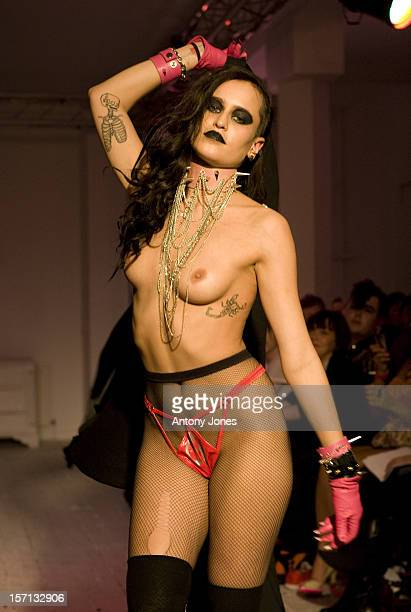 **Eds Note Content** Model Alice Dellal On The Catwalk At The House Of Blue Eyes Show During London Fashion Week